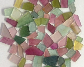 Tourmaline Slices AAAAA Super fine quality designer pointed shapes gem smooth polished tourmaline flats Wt 95 carats  Pcs 72 Size 5mm-11x8mm