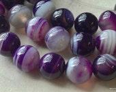 10 Pieces of 6 mm Round Purple Agate Gem Stones (.tgc)