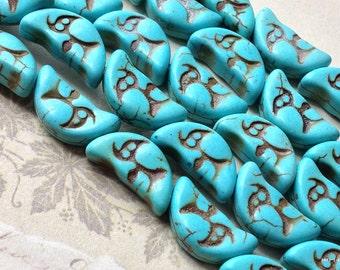 8 x 17 mm Blue Moon Crescent Shape Turquoise Stones (.mhsi)(.gz)