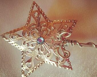 Star Wand fairy princess wand-silver