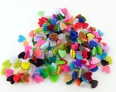 Felt Hearts. size 5mm. 100 pieces, Die Cut Shapes, Applique, Party Supply, DIY Wedding, Felt garland, Valentines day