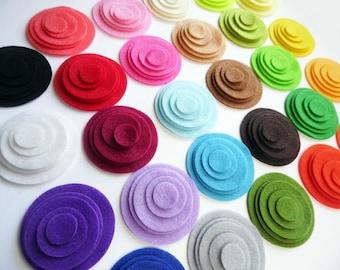 Felt Circles Shapes. 135 pieces. felt fie cut, felt shapes, felt supplies, circles, felt, scrap supply, party garland, diy, crafts