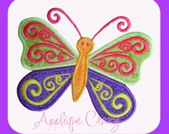Summer time Butterfly Applique design