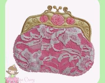 Victorian purse Applique design