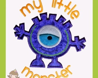 My Little Monster Applique design