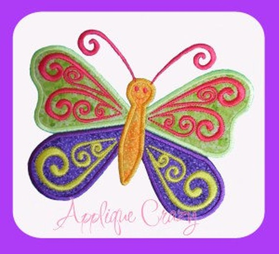 Summer time Butterfly Applique design
