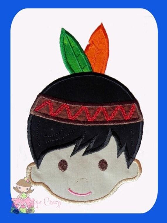 Indian boy Applique design