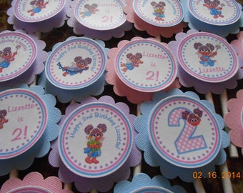 Abby Cadabby Cupcake Toppers-Sesame Street Birthday-Abby Cadabby Birthday-Sesame Street Decoration-Sesame Street Party-Abby Cadabby Party