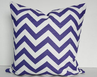 Chevron Decorative Throw Pillow Cover, Lavender, Purple, Lilac,  Zig Zag, Cushion Cover
