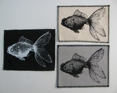 One Fish-goldfish patch in any color you choose....FREE SHIPPING USA
