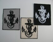 One Anchor canvas patch in any color you choose....FREE SHIPPING USA