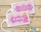 Princess -  Luggage Tag, Bag Tag, Backpack Tag, ID Tags, Personalized, Custom