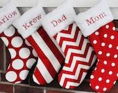 Christmas Stocking Personalized Dots Wholesale Lipstick Red Polka Dandi Chevron Canopy Stripe no.083 no.045 no.405 no.361