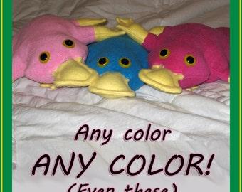 Platypus stuffed animal - ANY color you like!