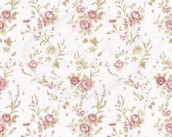 NEW 5ft x 5ft Vinyl Photography Backdrop / Vintage Pink Floral