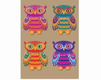 Four Owls Postcard