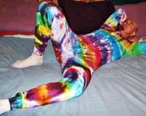 Union Suit Tie Dye UNISEX TEEN and CHILDRENS sizes Yes with a button flap in the rear Custom Order