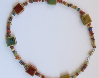 Necklace in Warm Earthy Tones