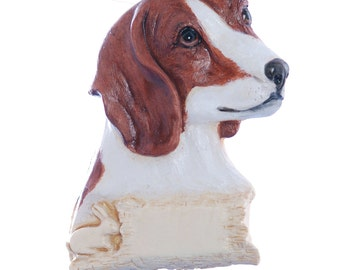 Beagle personalized Christmas ornament - Beagle ornament - red beagle Christmas ornament - dog ornament (d236)