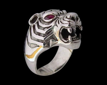 Stainless Steel Bengal Tiger Ring - Size 11 - No Stones - Instock/Shipping