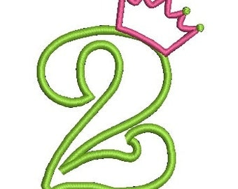 Crown Applique, Applique Number, Brithday Applique, Applique Embroidery (536) Instant Download