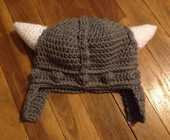 Crochet Viking Hat by yarnaholics on Etsy