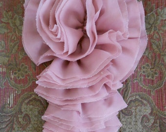 Pink Ruffle Rosette Appliques