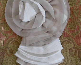 Taupe and Cream Ruffle Rosette Appliques