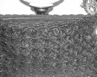 Vintage 1940s Style Classic Cord Crocheted Large Clutch