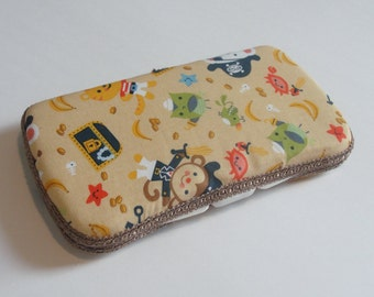 Baby Wipes Case, Travel Baby Wipes Case With Monkey Treasure Print