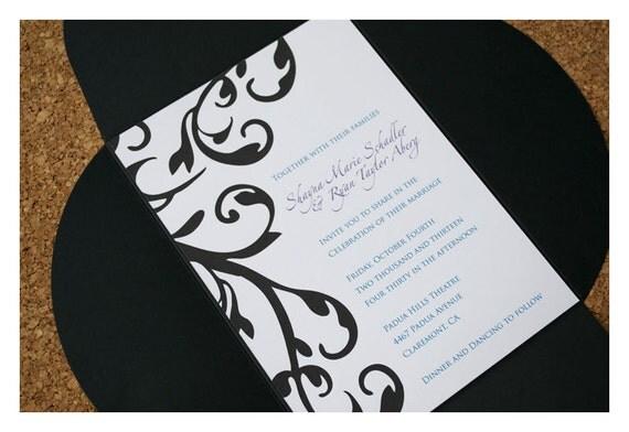 Filigree Damask Wedding Invitations