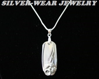 "Spoon Pendant With Sterling Silver Chain, 1950 ""Daffodil"" Pattern"