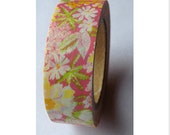 SALE Washi Tape - Floral - 15mmx10m - 1 Roll - Ships IMMEDIATELY from California  - TP84