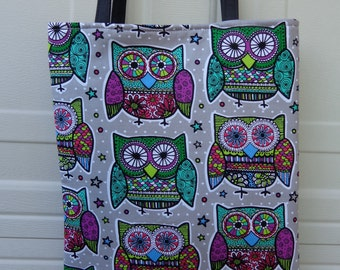 Reversible Tote Bag: Owl 3
