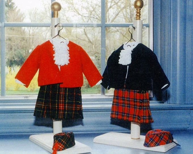 "Doll Pattern / 18"" Doll / Kiltie Pattern  / Kilt / Jacket / Blouse / Hat  Patterns / by Carol Clements"