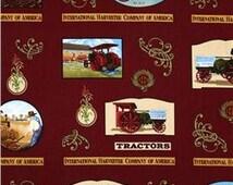 Tractor Fabric, Red Tractor Fabric, Titan International Harvester Fabric, 1 yard Fabric, 00356
