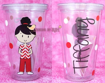Personalized Nurse Tumbler -  Travel Cup - Nurse's Week - Choose Your Nurse Style and Colors - Great Gift