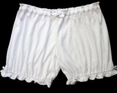 Womens Bloomers - White with White Bows