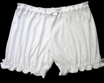 Womens Bloomers White w/ Bows Sizes XS-2X