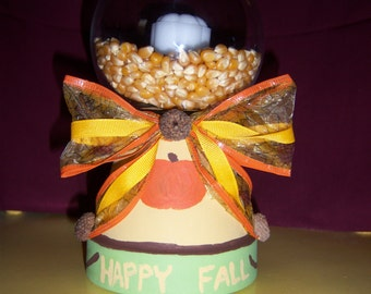 Fall candle deco