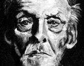 Albert Fish portrait print of oil painting dark art8x8 serial killers