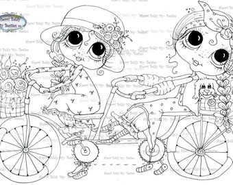 INSTANT DOWNLOAD Digi Stamps Big Eye Big Head Dolls Digi Bestie img0592 By Sherri Baldy