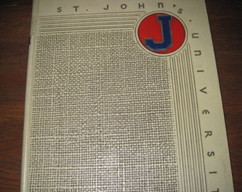 1939 Yearbook ST John's University Minnesota