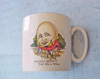 Adorable Vintage Child's English Cup-Humpty Dumpty Sat on a Wall by Lord Nelson