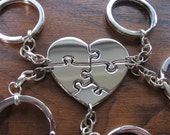 Five Puzzle Keychain Keyrings