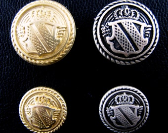 Gold Metal Military Shield Blazer Buttons