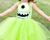 RESERVED FOR DENISE Mike Wazowski Inspired Tutu Dress Costume