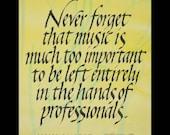 music quotation calligraphy print