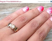 CLEARANCE SALE Cross My Heart - Rare 1800's 14k Gold and Enamel Fede Gimmel Ring