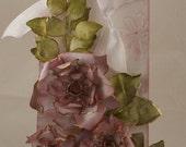 Pink Handmade Roses Gift Tag